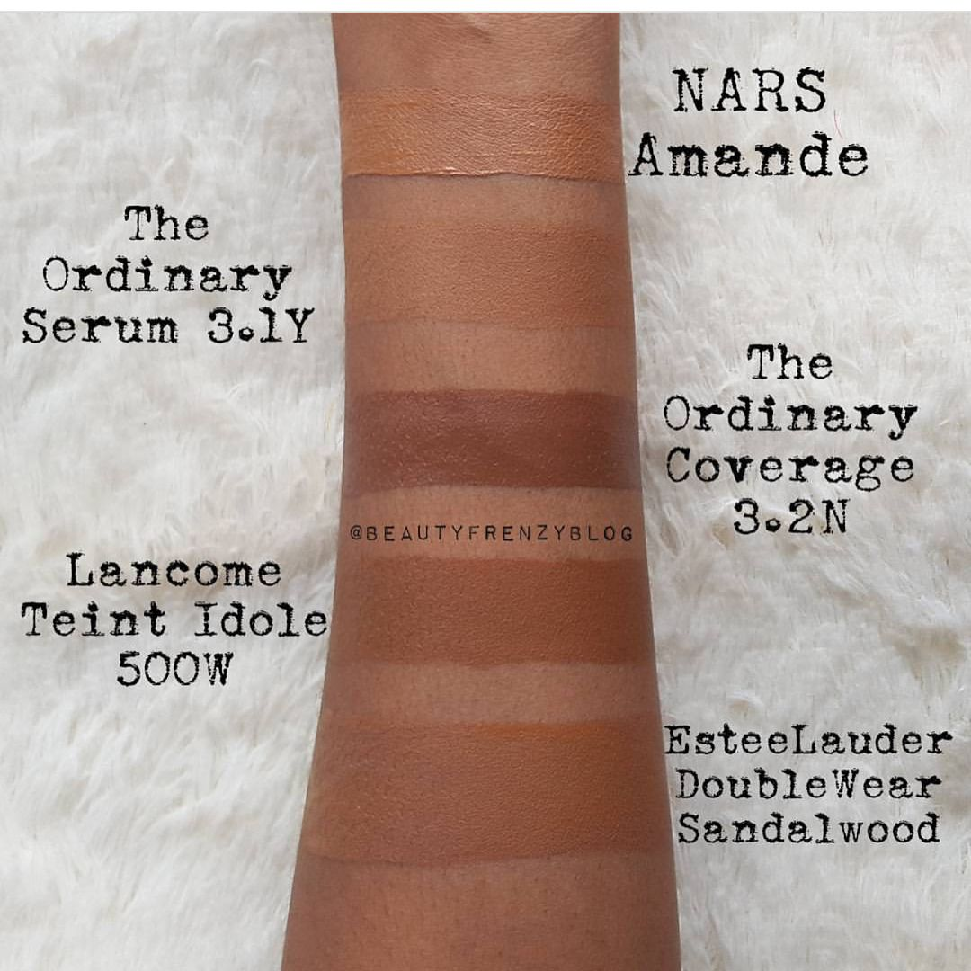 186 Likes 9 Comments Dsmd Darkskinnedmakeupdaily On Instagram Fyi Deciem Foundation Swatches The Ordinary Foundation The Ordinary Coverage Foundation
