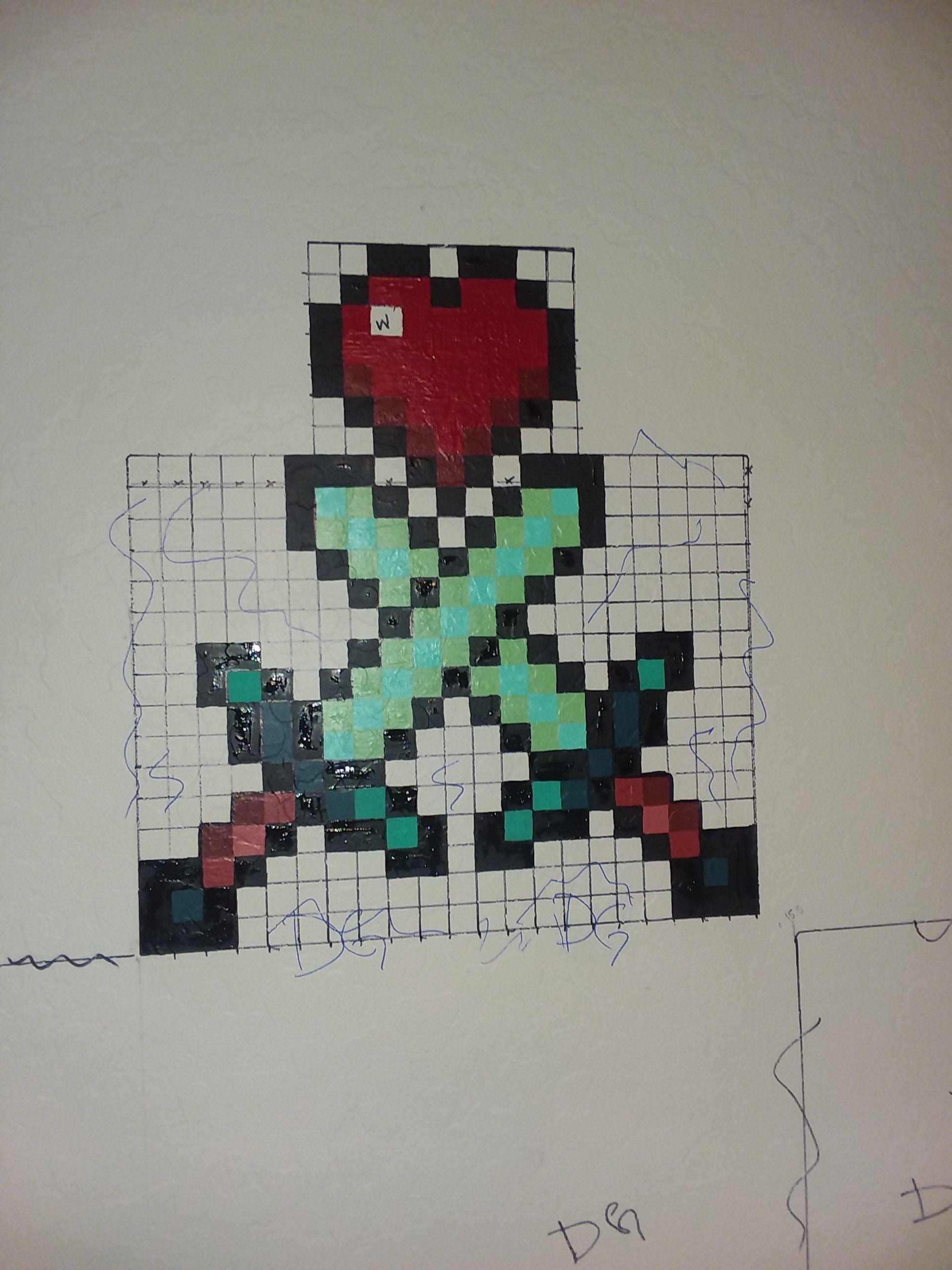 Minecraft Swords And Heartnext The Diamond Ore Wall