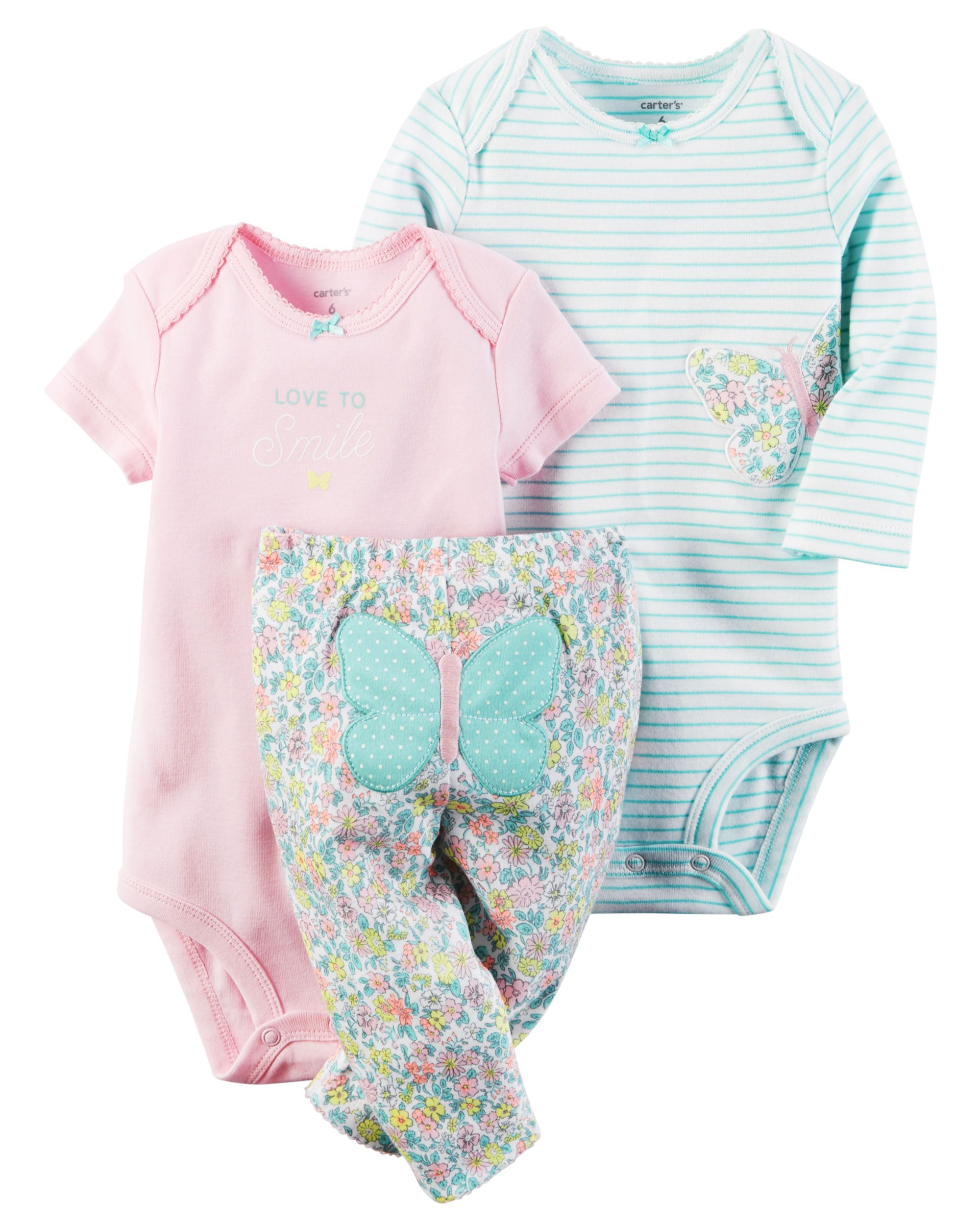 08619586faa9 Baby Girl 3-Piece Little Character Set   Carters.com   Maternity ...