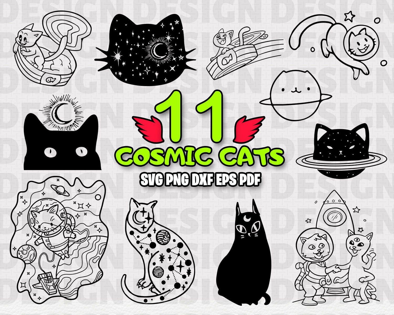 COSMIC CATS SVG, cat, cosmic cat, cosmic, space cat, cat