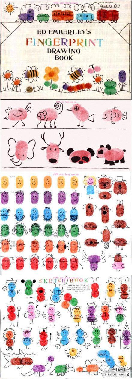 cute fingerprint art