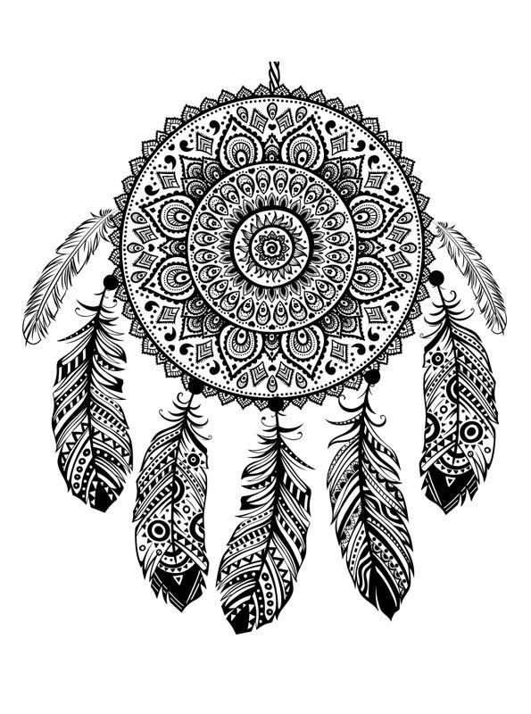 16 Coloring Pages Of Dreamcatchers On Kids N Fun Co Uk On