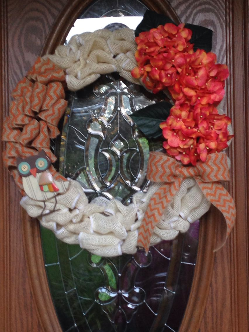 My first hand made wreath. So easy, i will be making one for Christmas as well!