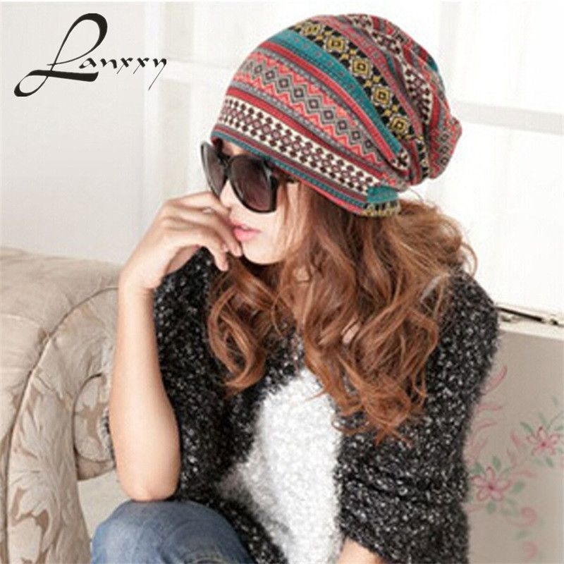 Lanxxy Beanies Bonnet Winter Frauen Strickmützen Verdickung Hut Warme Schal Hut Earflap Hut Häkeln Beanie Gorro Skullies Touca