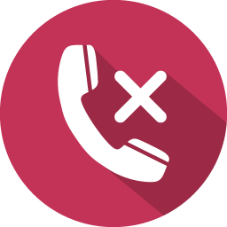 Phone Call Reject Icon 100 Flat Iconset Graphicloads