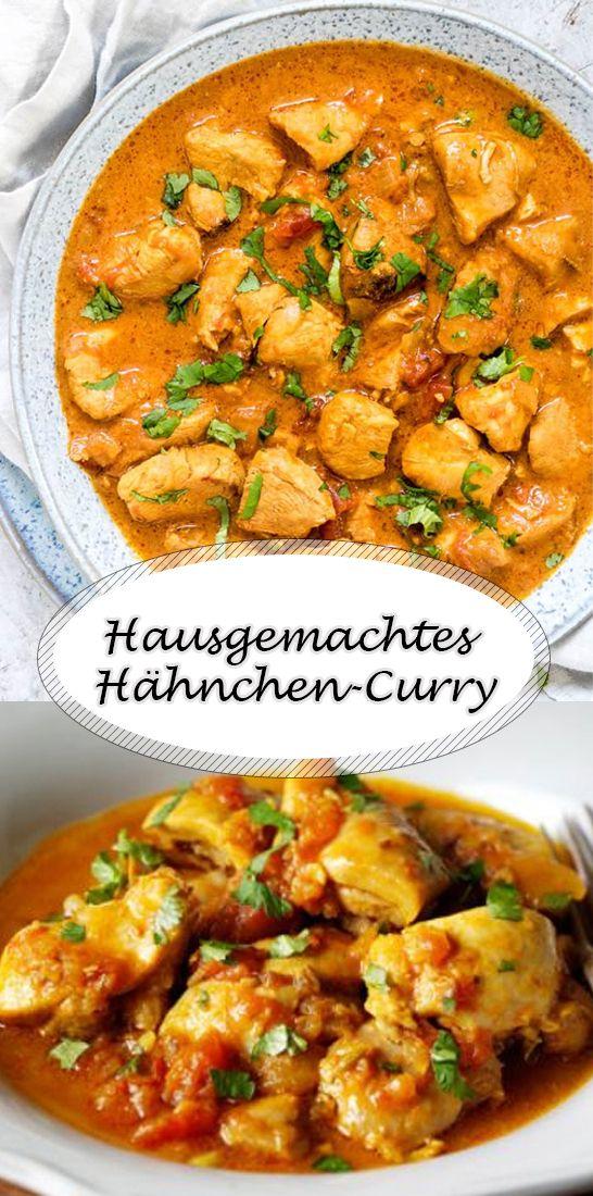 Hausgemachtes Hähnchen-Curry  #indischeswohnzimmer
