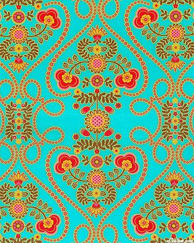 Ooh La La - Hearts & Flowers - Peacock
