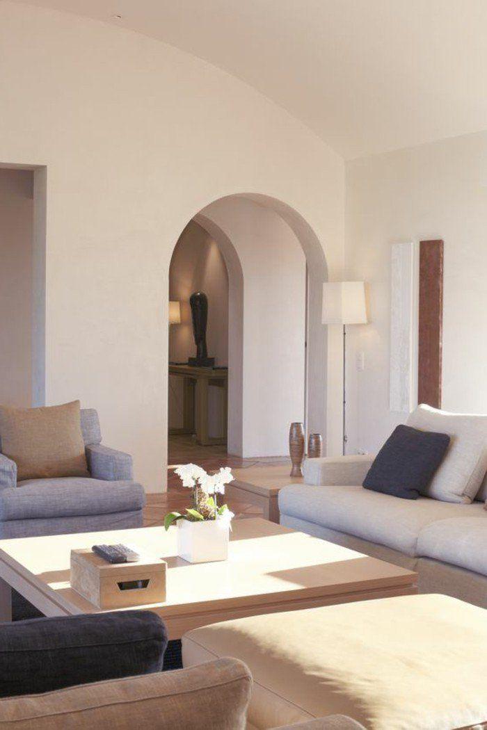 Association couleur taupe pour le salon moderne meuble bas