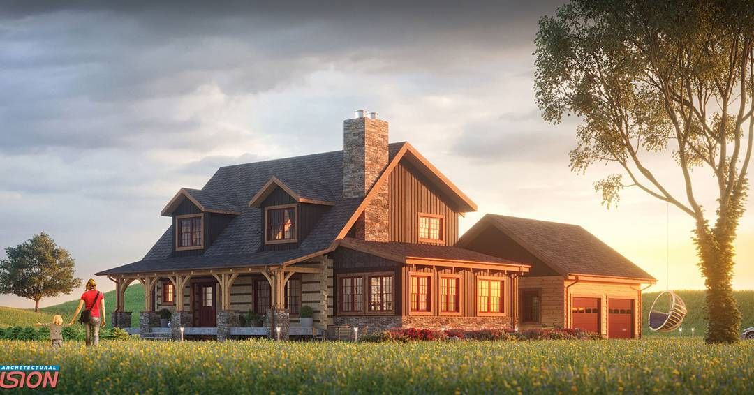 40 Likes 3 Comments Mig Vision Studio Mig Vision On Instagram Another Version Of Quot The Birchwood Quot Bea Log Homes Timber House Log Home Designs