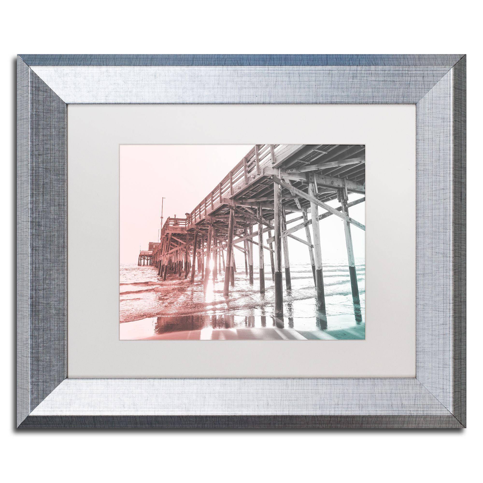 Ariane Moshayedi 'Newport Pier Color' Matted Framed Art