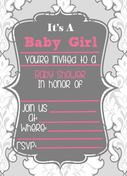 Good Cutiebabes.com Blank Baby Shower Invitations (10) #babyshower