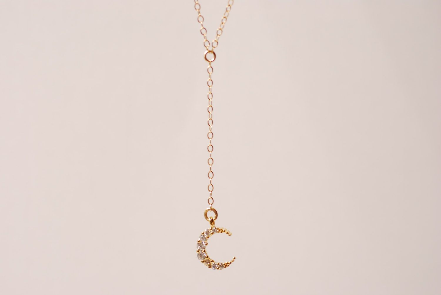 Gold crescent moon lariat half moon necklace moon necklace moon gold crescent moon lariat half moon necklace moon necklace moon rosary gold aloadofball Images