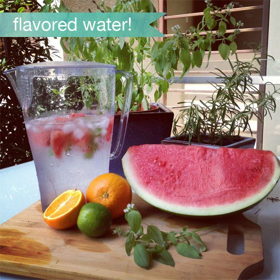 Here's a simple idea for your next party... Rather than buying bottled drinks, a big pitcher of flavored water can make such a lovely impact!