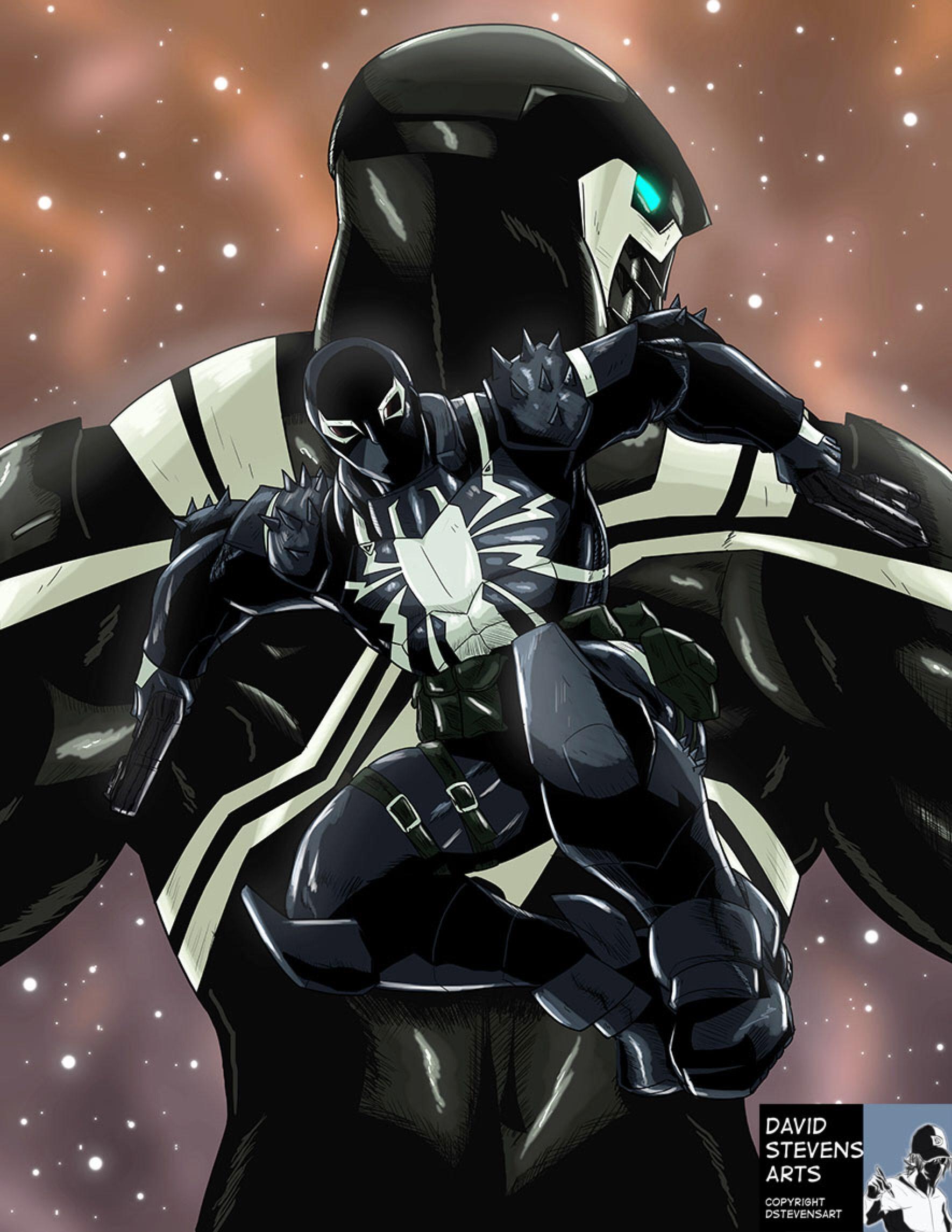 agent venom space knightdstevensart on @deviantart | spider-man