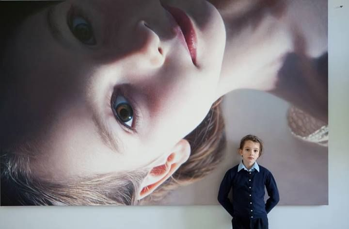 "My eldest daughter, painted by her Grandfather,  Gottfried Helnwein ""Head of a Child 16 (Croí)"", 2014"