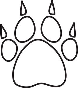 Paw Print Clipart Image Dog Paw Print With Claws Outline Animal