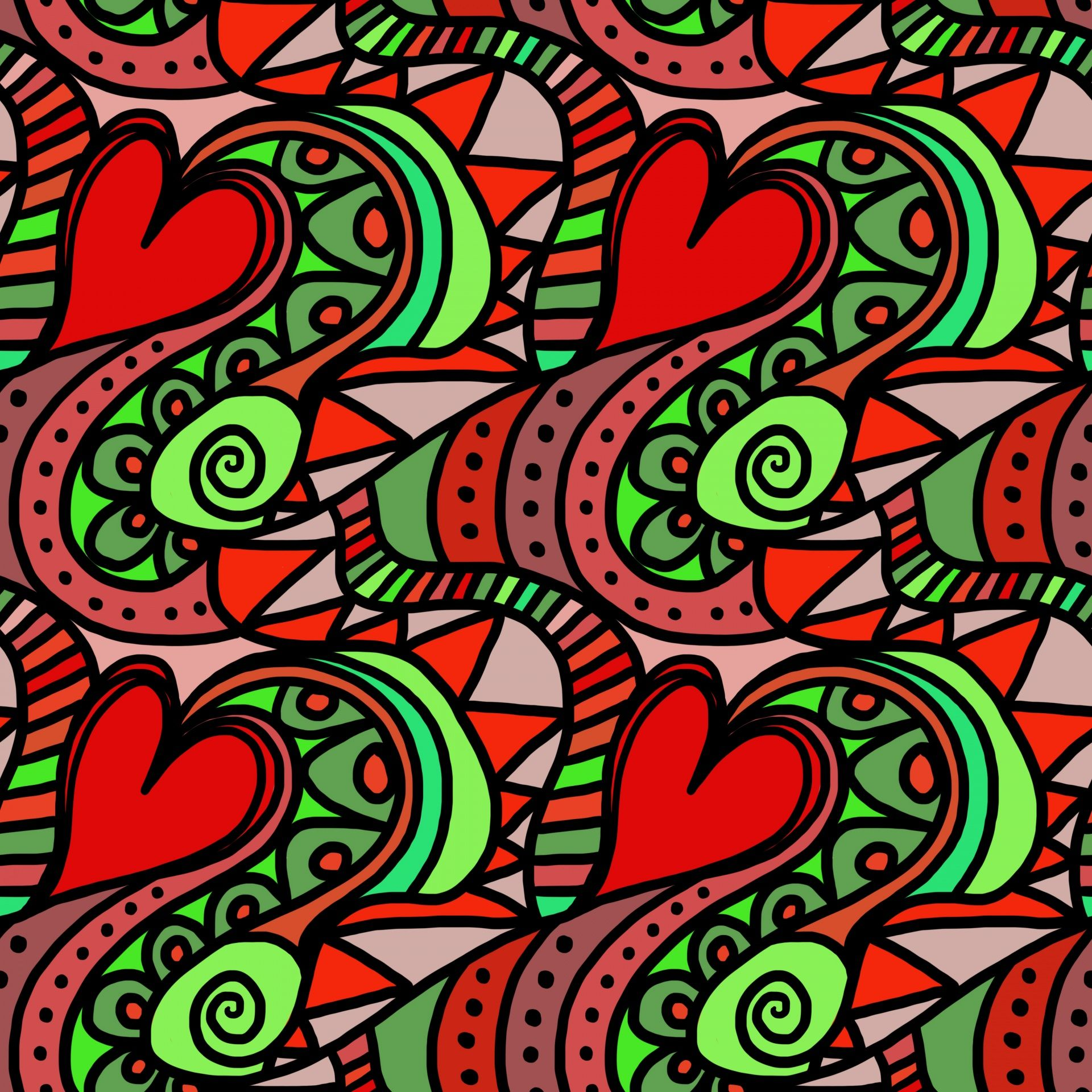 Red Green Hearts And Flowers Floral Cotton Linen Tablecloth 52 Find This Pin More On Designs Public Domain