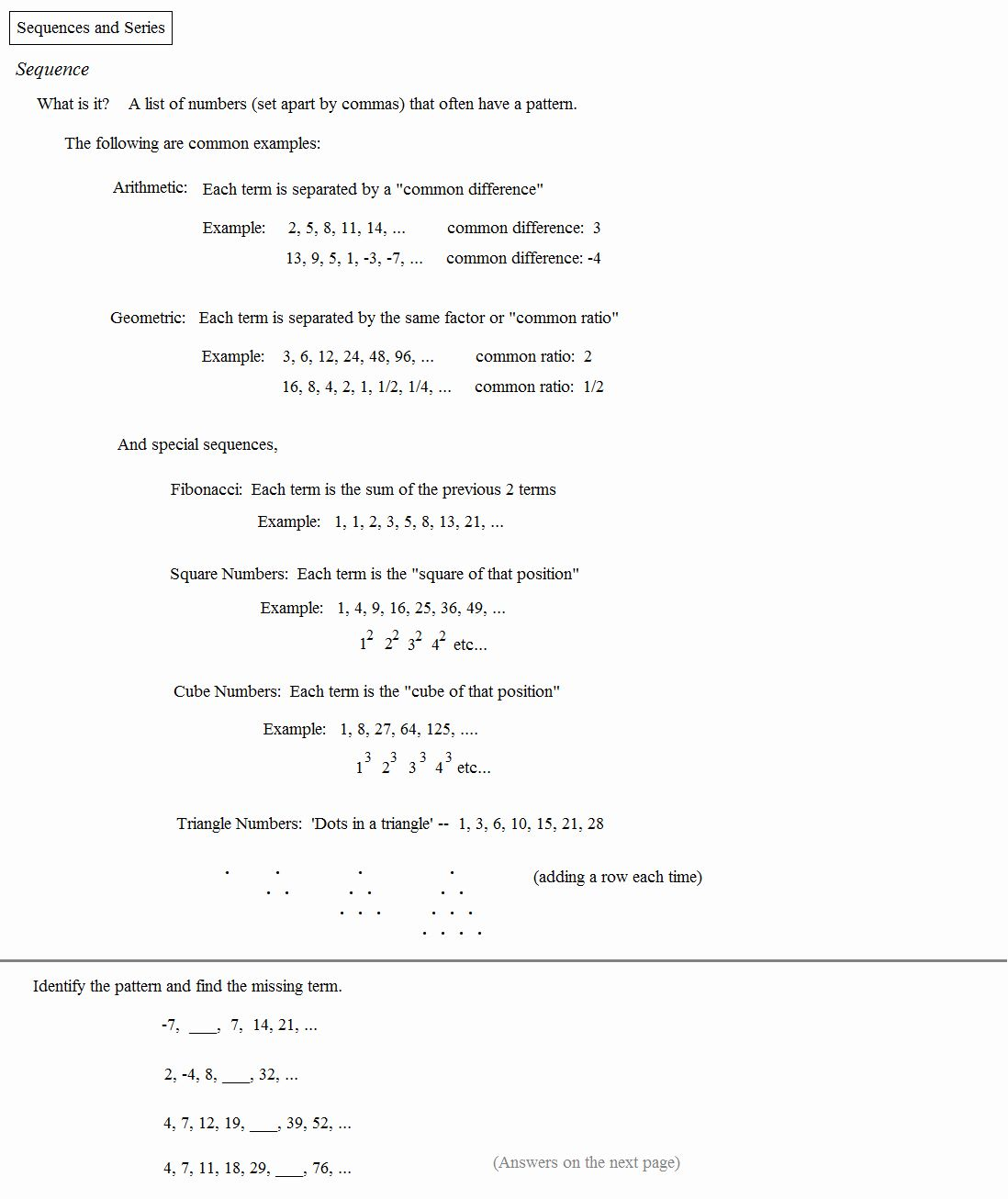 Geometric Sequences Worksheet Answers Beautiful Math Plane