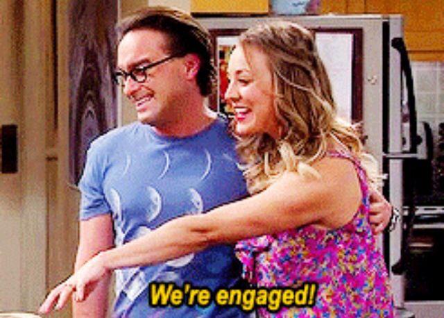 The Big Bang Theory Leonard and Penny ENGAGED
