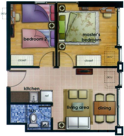 2 Bedroom Unit 49 Sqm 527 Sq Ft Area Www Filbuild Com Philippines Real Estate Condominium Makati City Filinvest House Plans How To Plan Interior Design Plan