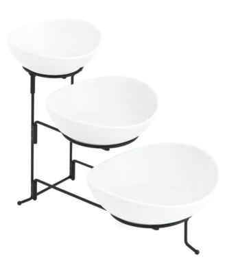 The Cellar Whiteware Serveware Oval 3 Tier Server Created For Macy S Reviews Serveware Dining Macy S Tiered Server Serveware Entertaining Serveware