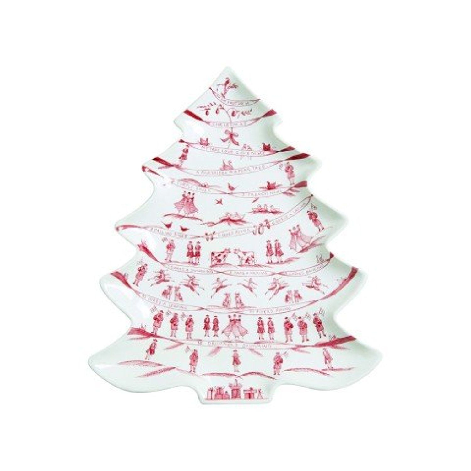 Juliska Country Estate Winter Frolic Ruby Tree Platter 12 Days Of ...