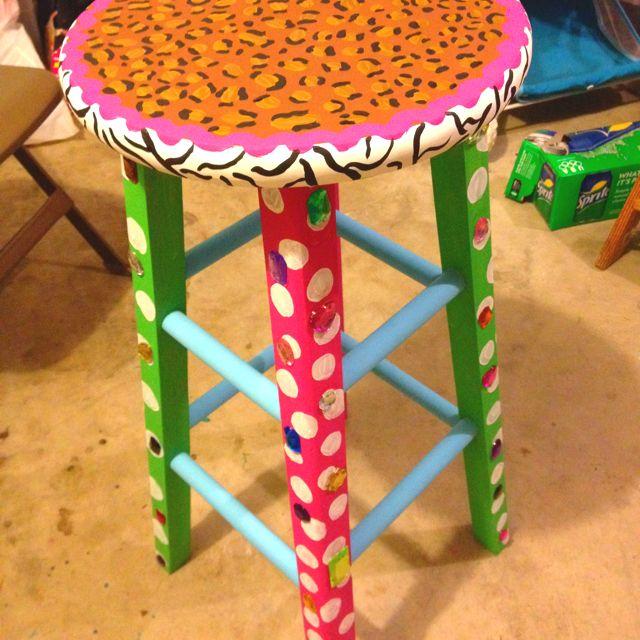 Oltre 10idee su mobili colorati su pinterest mobili, rinnovamento. Painted Stool Sedie Vintage Vintage Sgabelli
