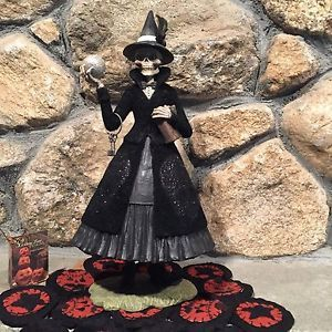 Bethany-Lowe-QUEEN-OF-THE-NIGHT-Whimsical-Halloween-Folk-Art-Skeleton-Witch