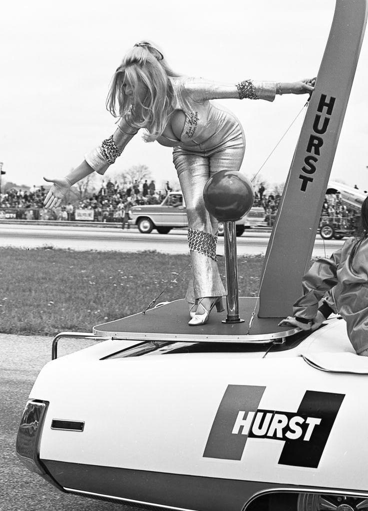 Vintage Linda Vaughn, Miss Hurst Golden Shifter