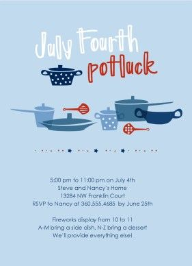 Potluck Invitation Template Free Printable Image Gallery   HCPR