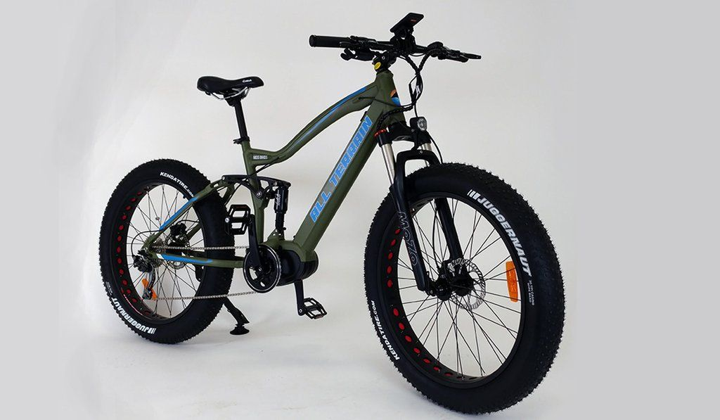 All Terrain Kush Full Suspension Mid Drive Electric Fat Bike