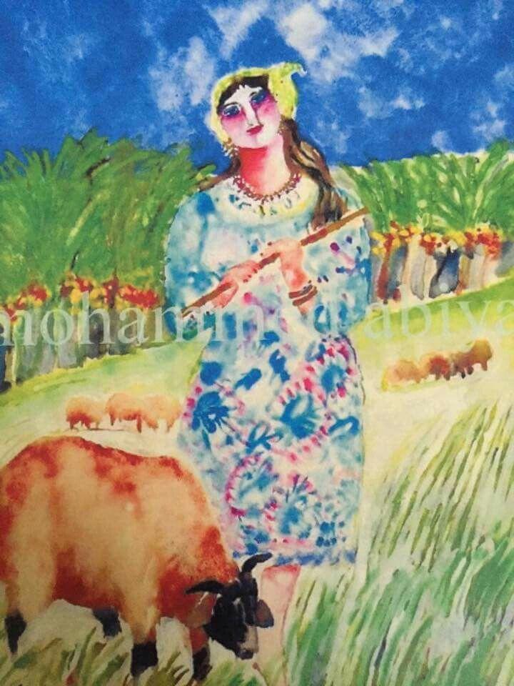 لوحة للفنان محمد العارف عبيه Art Painting Libyan