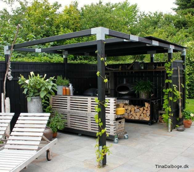 Update på min terrasse med udekøkken bygget op af traller (Tina ...