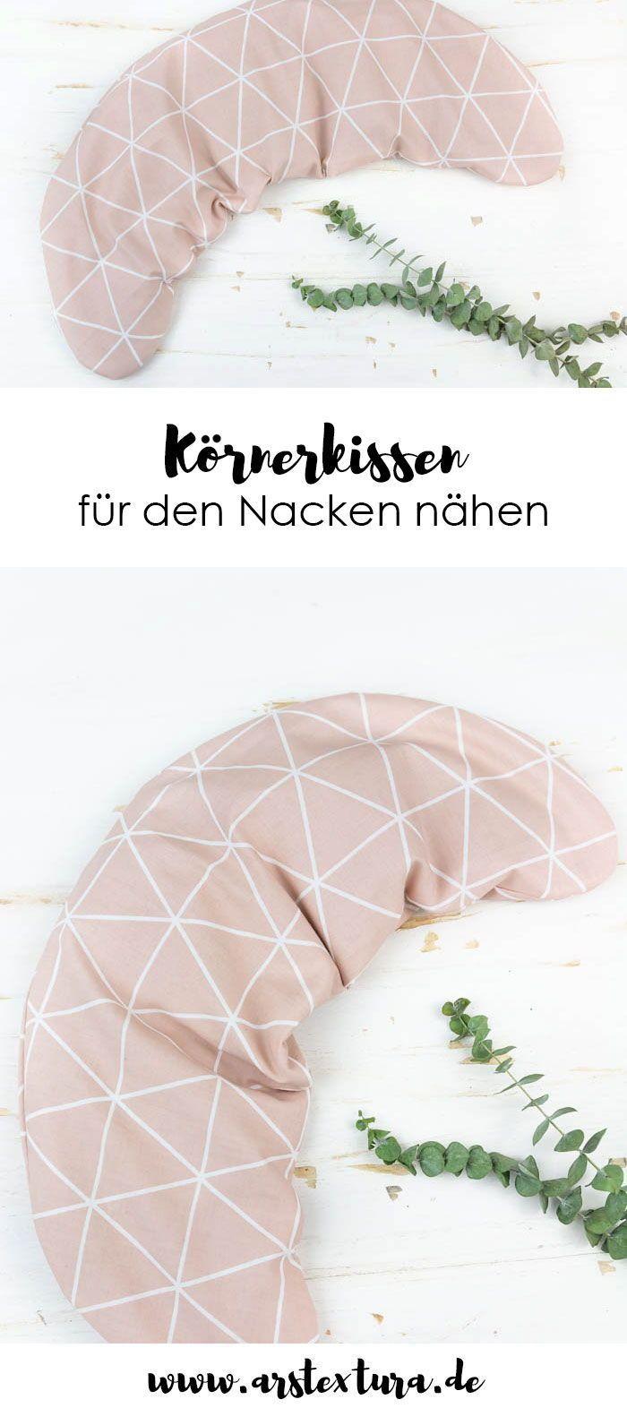 Körnerkissen für den Nacken nähen #fooddiy
