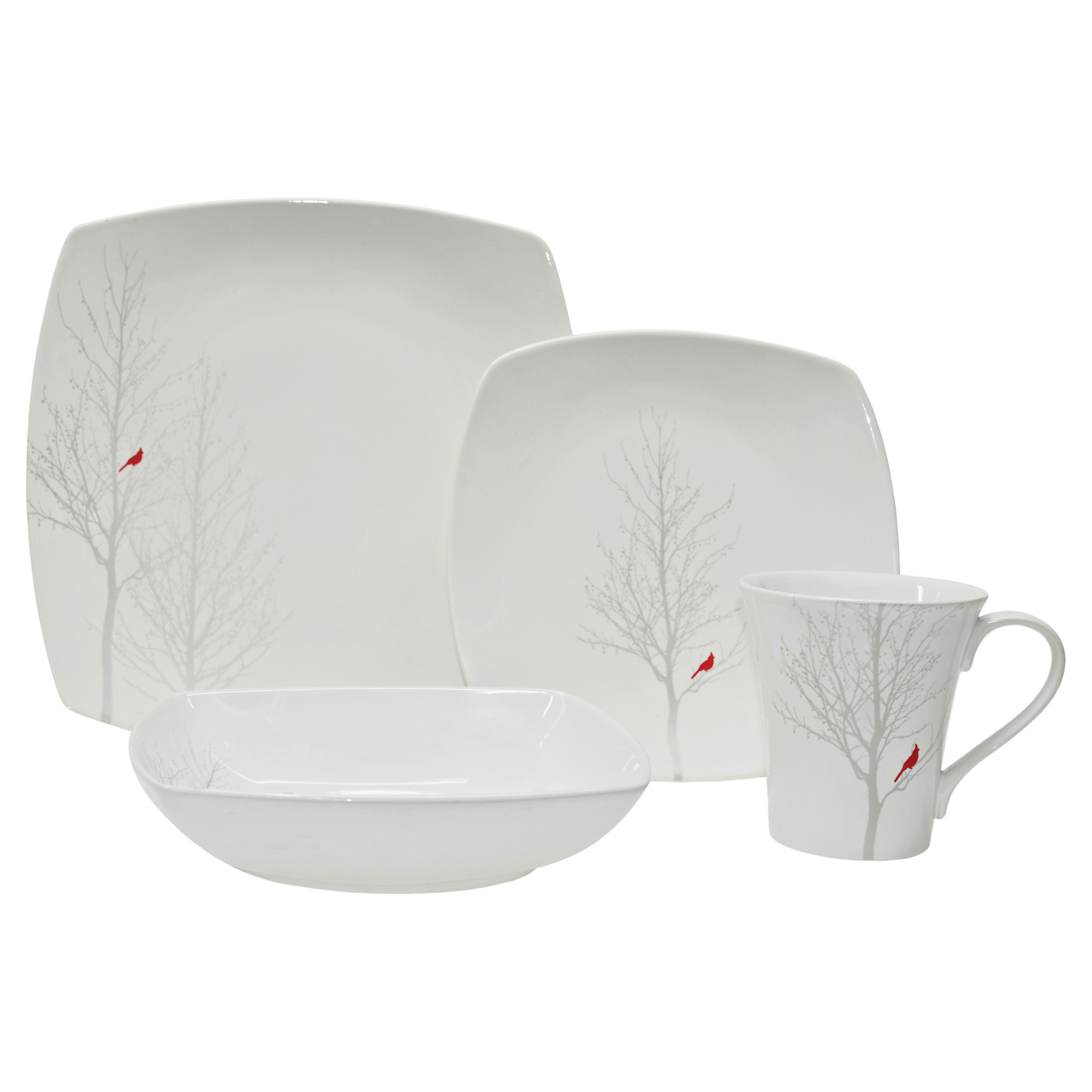 Fifth Square pc Dinnerware Set White  Dinnerware and Products