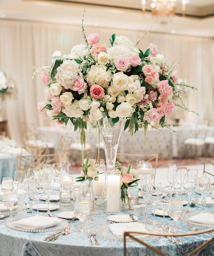 Romantic Floral wedding at Scottsdale Montelucia | Centrepieces ...