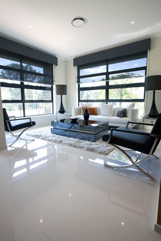 white tile floors in living room black carpet super floor tiles interior design pinterest flooring
