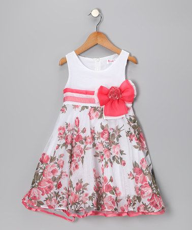 032b0e822e9 Take a look at this Coral Rose Bow Dress - Girls by Bonny Billy on  zulily  today!