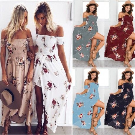 81177699f2d Europe and the United States Women Wrapped Chest Short Sleeve Printed Dress  Ladies Seaside Resort Beach Long Dress