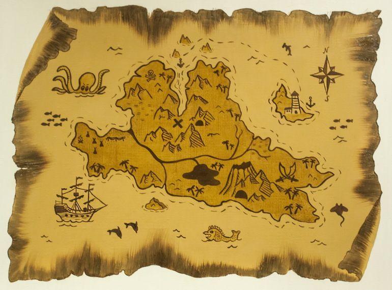 карта острова сокровищ картинки отличается