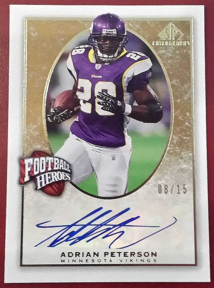 2007 815 adrian peterson sp gold auto chirography