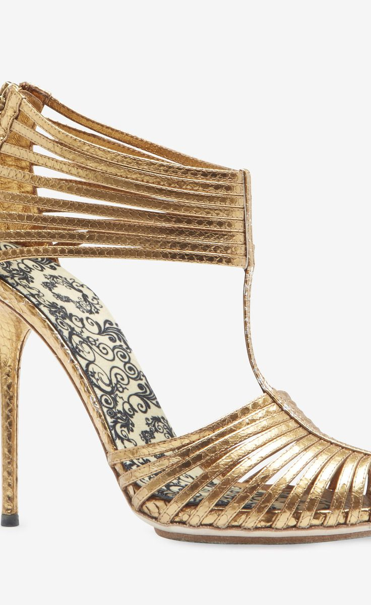 Chaussures Gucci Or Pour Femmes RI2DUE9