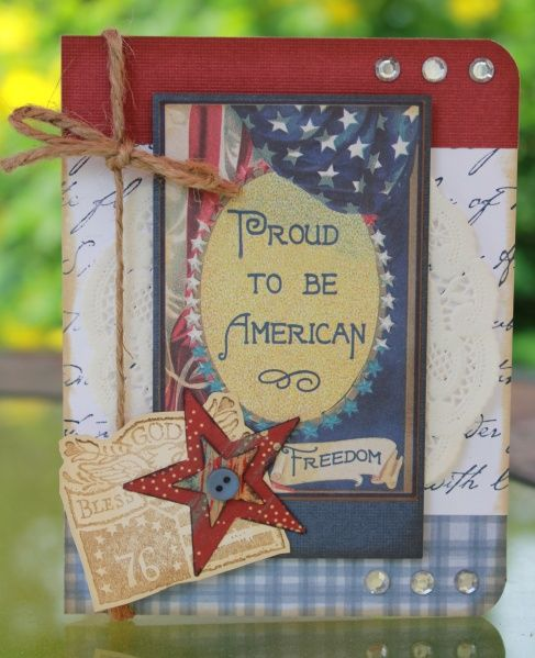 CS Proud to be Am. July 4th Card