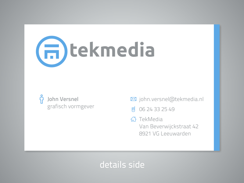 tekmedia business card details side business cards and labels