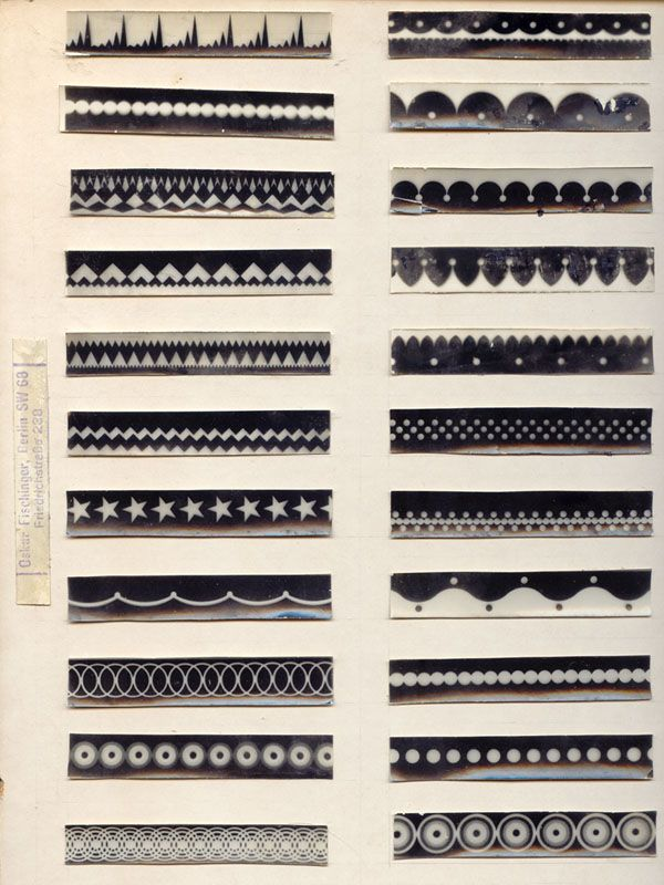 Examples From Fischinger S Ornament Sound Experiments From
