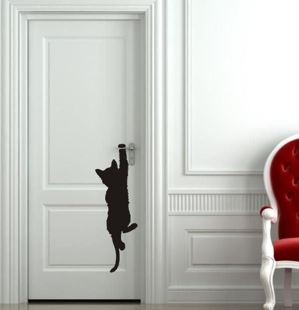 sticker chat suspendu miaoutatoo pinterest suspendu chats et stickers. Black Bedroom Furniture Sets. Home Design Ideas