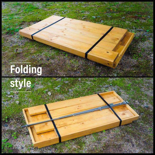 サイズオーダー可能 折りたたみキッチンテーブル アウトドアテーブル オリジナル作品 アウトドア テーブル キッチンテーブル キャンプ テーブル 自作