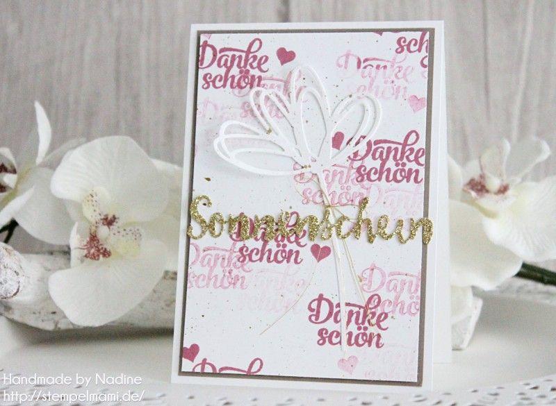 stampin up dankeskarte karte stempelmami thank you card gruesse ...