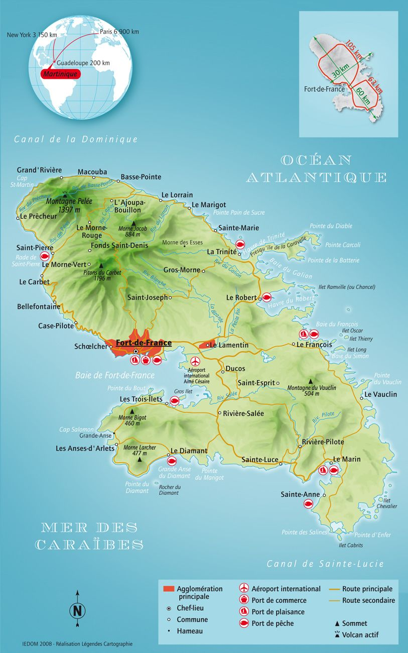 Carte Martinique | FRENCH ISLANDS | Pinterest | Caribbean, Cruises