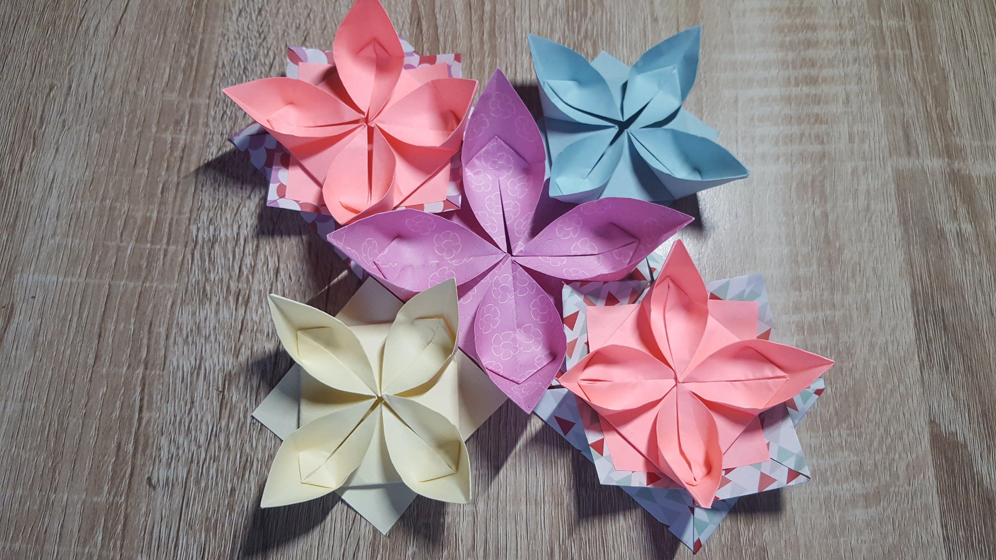 Einfache Origami Blume faltenWasserlilieHow to make an Origami